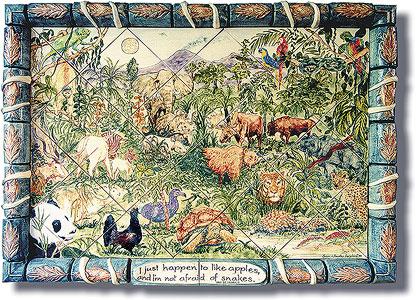 Garden Of Eden Tile Panel
