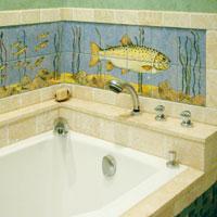 Unique ceramic tiles made for bathrooms