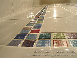 shower tiles mosaic border tiles