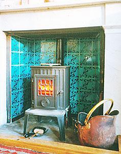 Fireplace tiles, handmade ceramic tiles, unique ceramic tiles